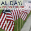 Memorial Day flags 2017. Sunday services talk title is Where Mission and Vision Collide