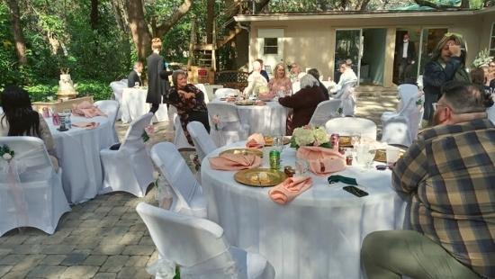 Unity of Palm Harbor Wedding Outdoors
